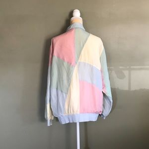 VTG Pastel Silk Bomber Jacket